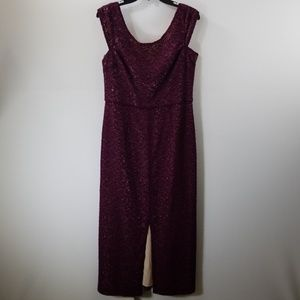 Alice + Olivia Burgundy Lace Split Front Dress 12